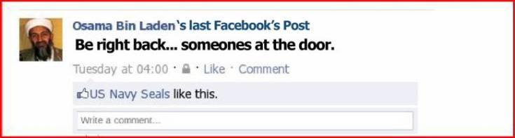Bin Laden's last post...