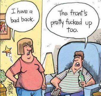 Bad back...